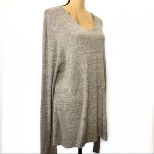 Eileen Fisher Wool Relaxed Knit Sweater Career L